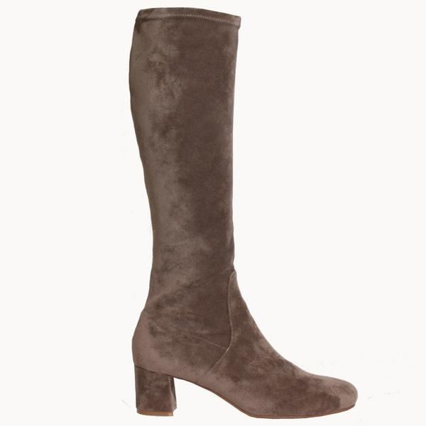Hot Pop Long - Taupe Micro Suede