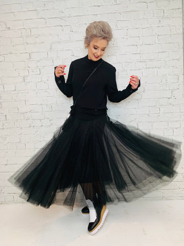 Swan Lake Tulle Tutu - Black   -   PRE ORDER - DUE IN LATE JULY