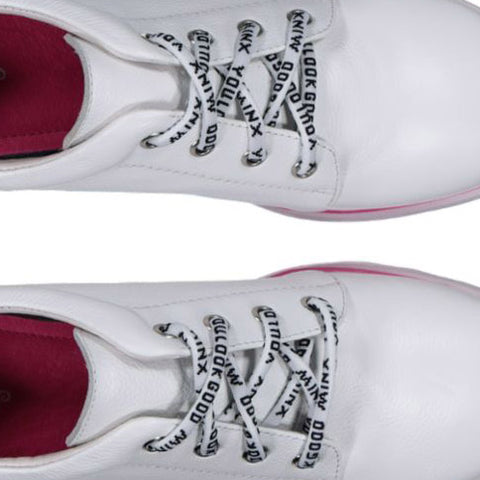 You Look Good Minx Shoe Laces - White