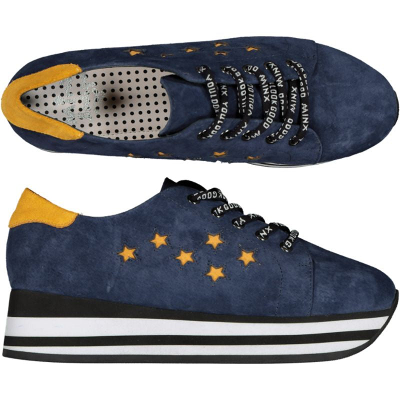 Cult Star - Navy/Mustard Trim