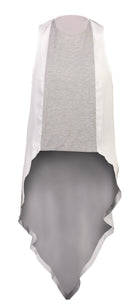 Juju Top - White Grey Marle Knit