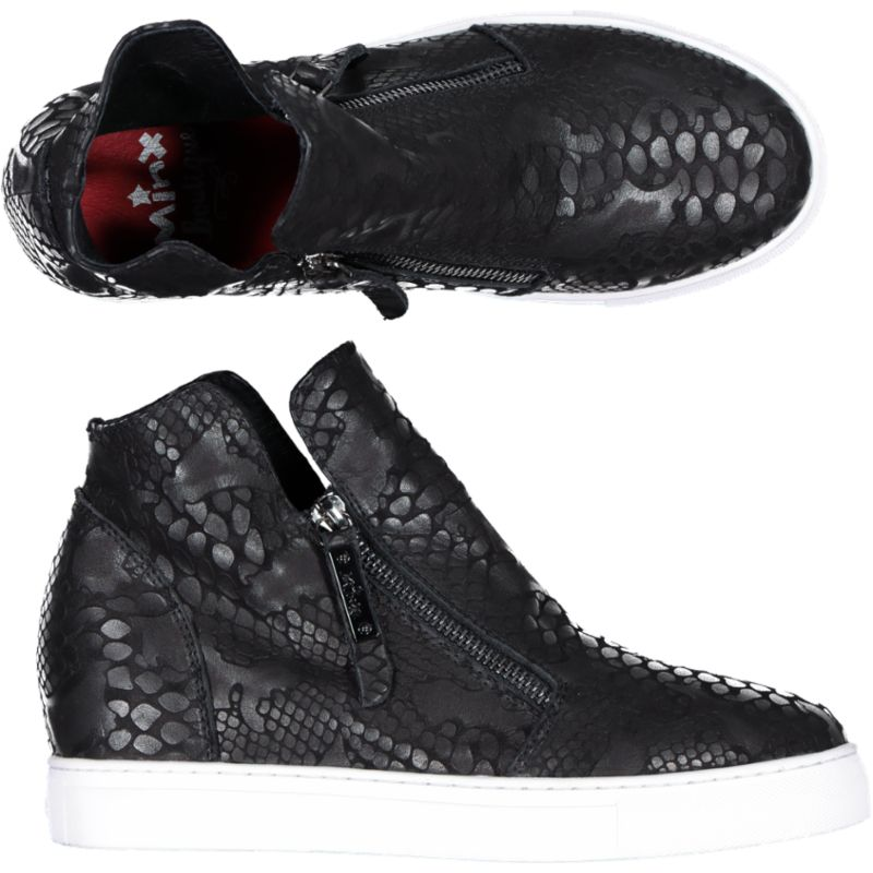 Willott Boot - Black Multi Reptile/White Sole