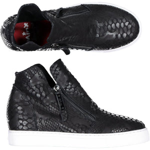 Willott Boot - Black Multi Reptile/White Sole PRE-ORDER