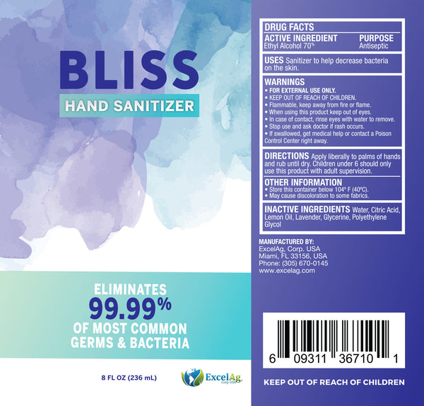 BLISS HAND SANITIZER™ GEL 8oz.