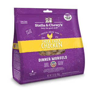 S&C Chick Chick Chicken. Dinner Morsels. 9oz. Freeze Dried Raw