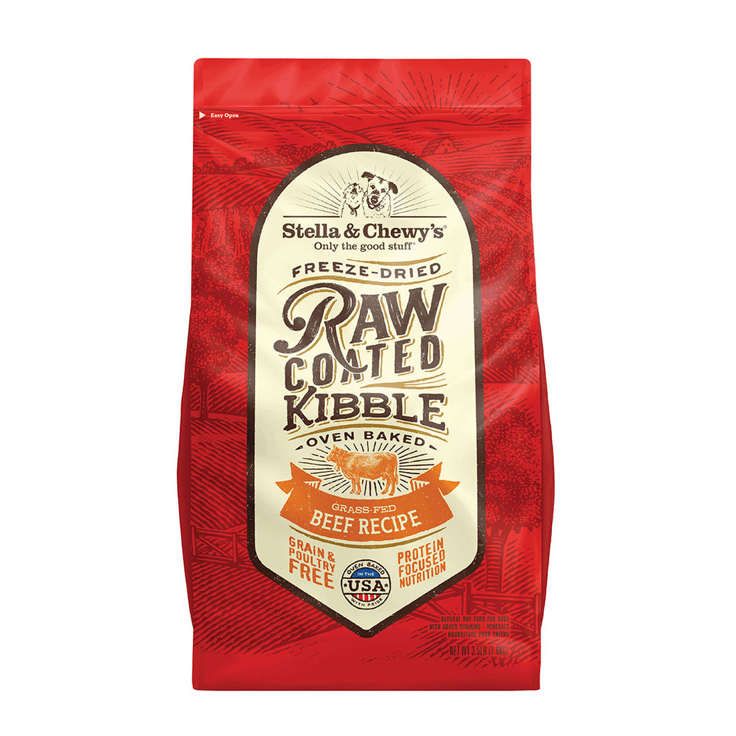 S&C Raw Coated Kibble Beef Recipe. 3.5lb bag