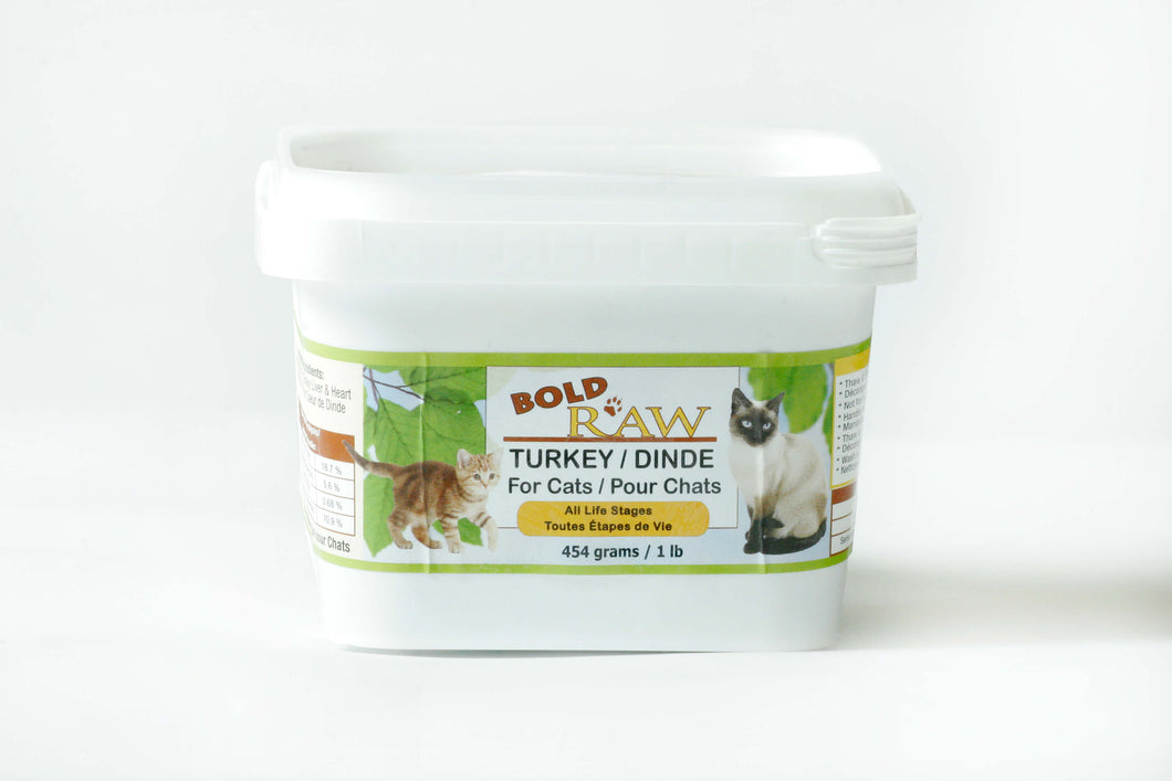 Bold Raw Turkey for Cats 1lb