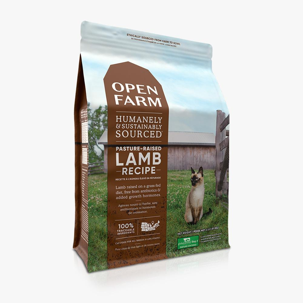 OPEN FARM CAT FOOD DRY Lamb 4lb