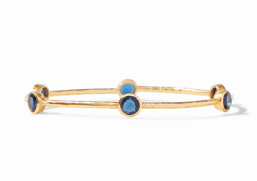 Milano Bangle Gold Sapphire - Various Sizes