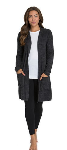 Barefoot Dreams Santa Monica Cardi Carbon