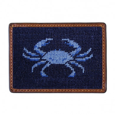 Smathers & Branson Blue Crab Card Wallet