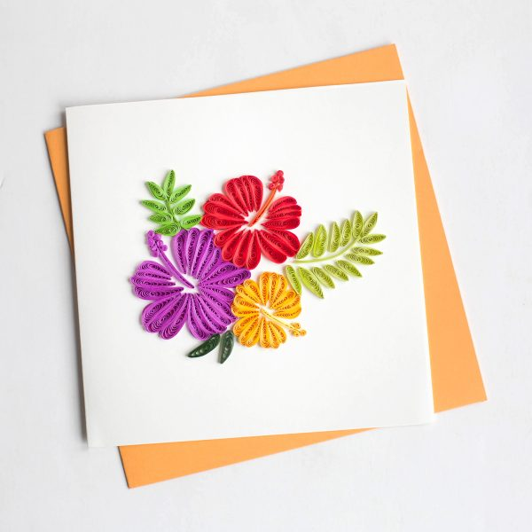 Quill Card Hibiscus Flower