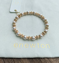eNewton Loyalty Gold 6mm Bead Bracelet Available in Two Gemstones