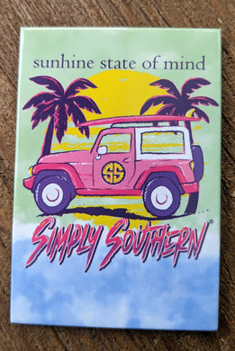 Simply Southern Sunshine State of Mind Magnet