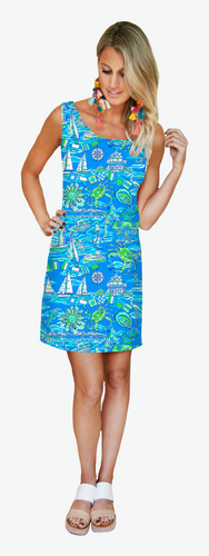 Kaeli Smith Dixie Dress Green Blue