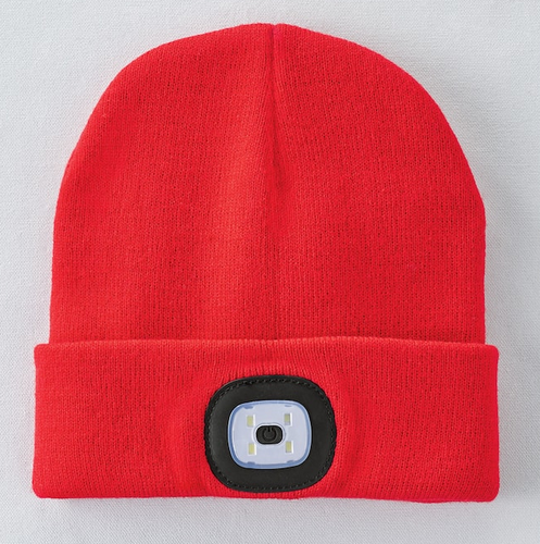 LED BEANIE RED