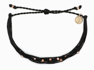 ROSE GOLD & BLACK MALIBU BRACELET