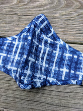 Denim Plaid Fashion Face Coverings