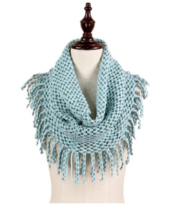 mint grey tube fringe scarf annapolis maryland