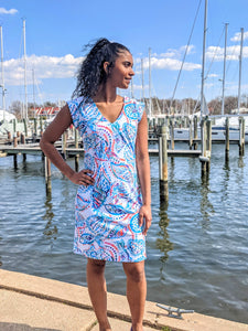 Aryeh Apparel, SPF 50 Summer Dress, Photo taken Downtown Annapolis