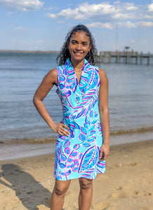 Aryeh Apparel, UPF 50 Summer Dress, Photo taken Downtown Annapolis, Available at The Painted Cottage Maryland