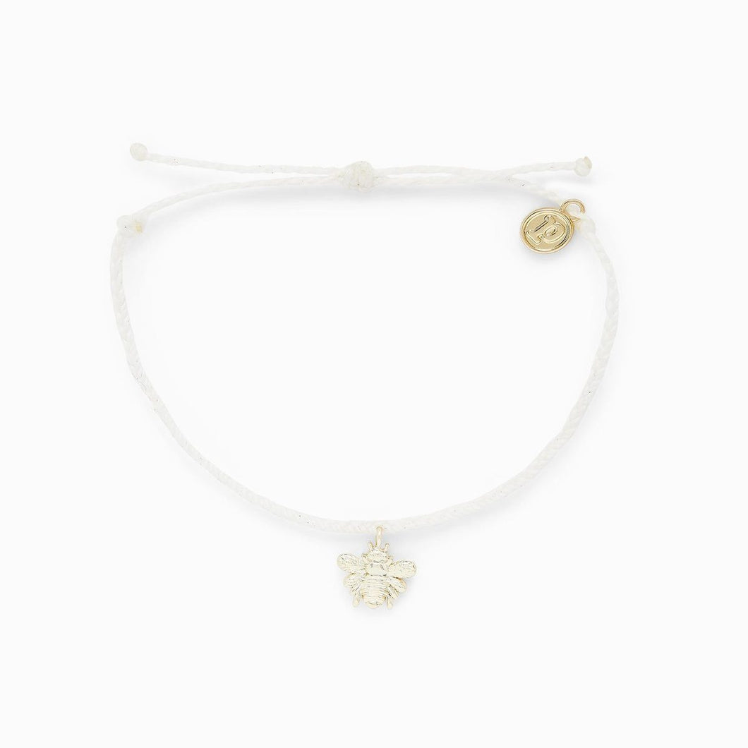Pura Vida Save the Bees Charm Natural