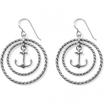 Brighton Blue Water Floating Anchor French Wire Earrings