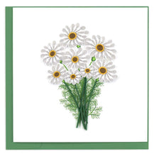 White Daisies Quill Card
