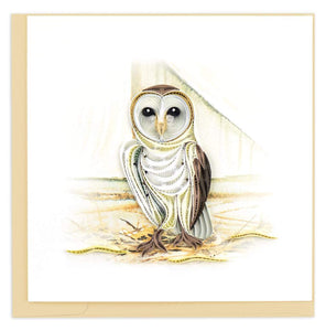 Barn Owl Quill Card