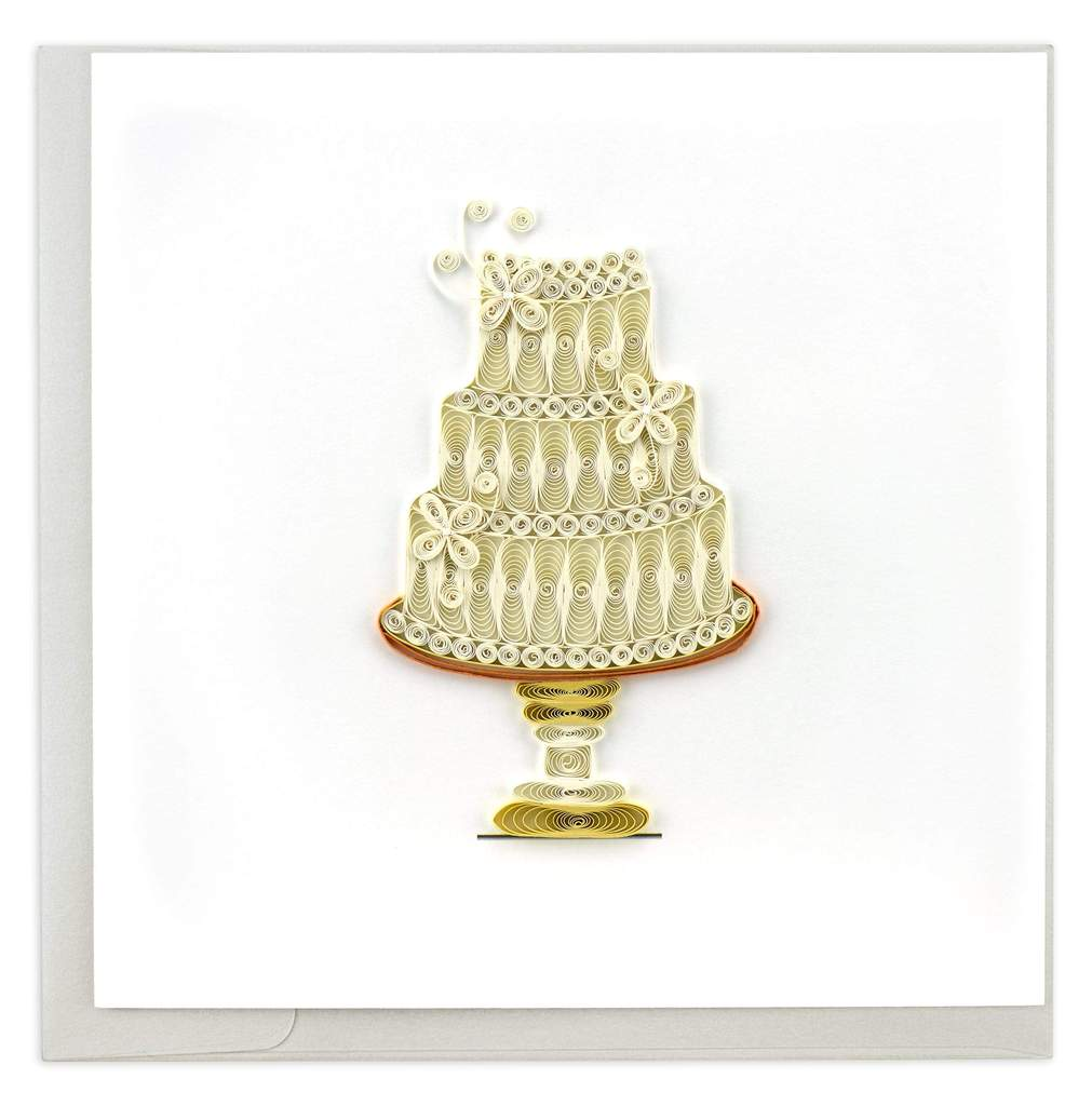 Wedding Cake Quill Card