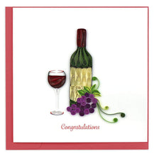 Wine Congrats Quill Card