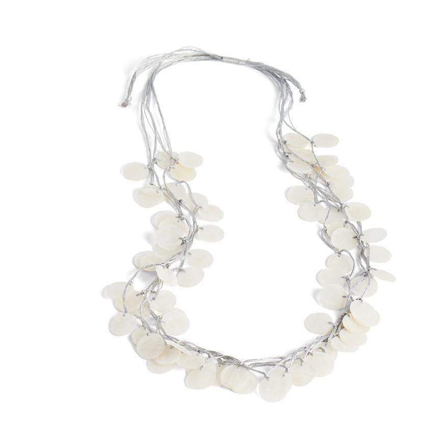 Frolic Shell Necklace - Silver