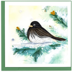 Dark-eyed Junco Quill Card