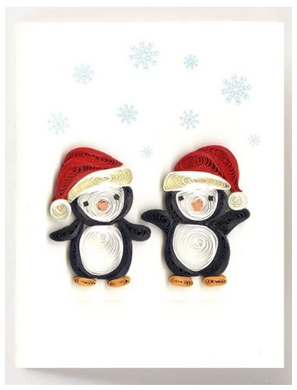 Christmas Penguins Quill Gift Enclosure