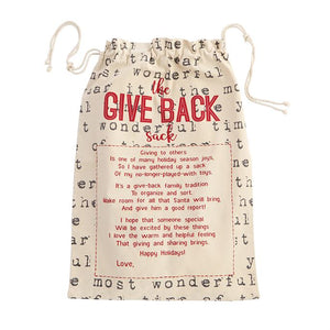 Give Back Sack - Typed Letters