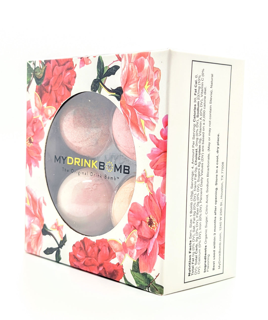 DRINK BOMB 4PK ROSE #1 BOX
