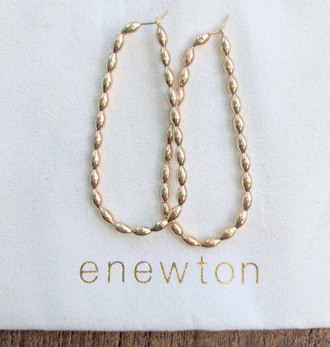 eNewton Beaded Oval Gold 2.25