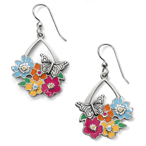 Enchanted Garden Flower French Wire Earring