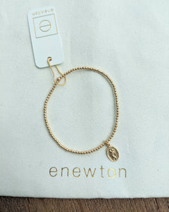 Classic Gold 2mm Bead Bracelet | Protection Small Gold Charm
