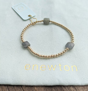 eNewton Seasons 3mm Bead Bracelet - Labradorite