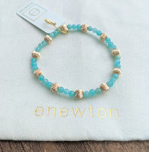 eNewton Sincerity Pattern 4mm Bead Bracelet/Dignity Gold 6mm - Available in Five Gemstones