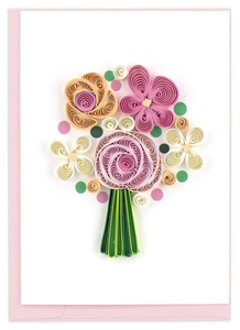 Flower Bouquet Quill Gift Enclosure