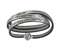 "AMen-Leather Wrap Bracelet ""Our father prayer"""