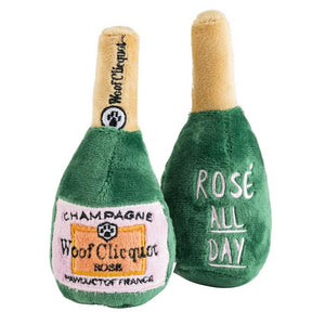 Woof Clicquot Rose' Champagne Bottle: XL