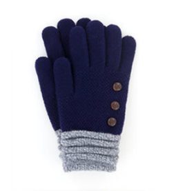CUFF NAVY GLOVES