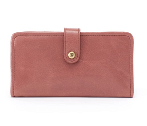 Hobo Torch Leather Wallet Burnished Rose