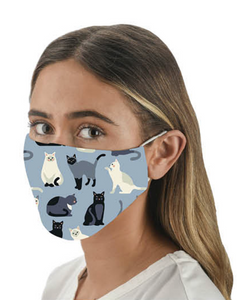 Multi Cat Blue Face Coverings