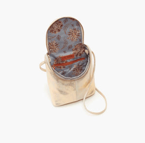Hobo Fern Crossbody Handbag Distressed Gold
