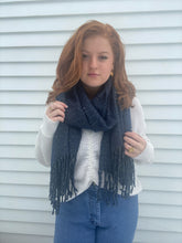 OVERSIZED STAR SCARF BLUE
