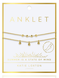 DAINTY DOUBLE CHAIN ANKLET